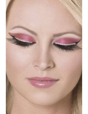 Silver Glitter Strip Black Costume Eyelashes