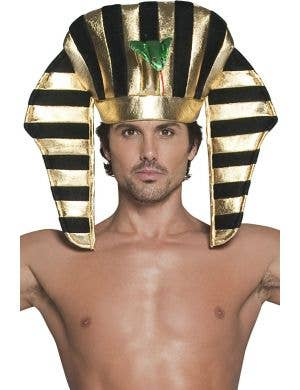 Egyptian Pharaoh plush black and gold costume headpiece