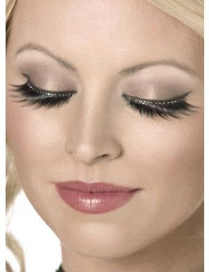 Long Tapered False Eyelashes With Diamantes