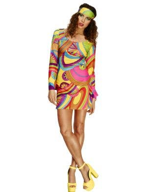 60's Go Go Dancer Women's Fancy Dress Costume Main Image