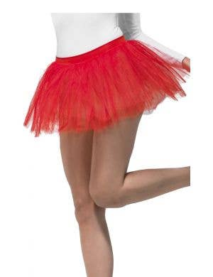 1980's Women's Red Layered Costume Tutu