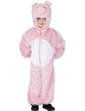 Kid's Pink Pig Farm Animal Onesie Book Week Costume Front