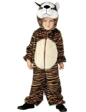 Kid's Tiger Safari Animal Onesie Book Week Costume Front