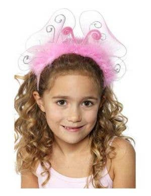 Flashing Pink Butterfly Girls Headband