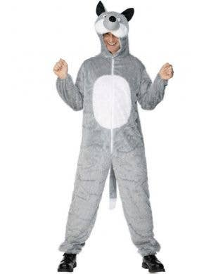 Grey Wolf Adult Onesie Costume