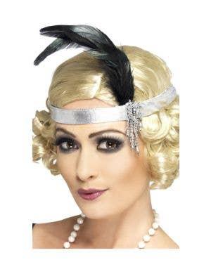 Charleston 1920's Silver Flapper Headband Costume Accessory