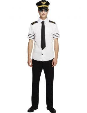 Men's Flight Captain Pilot Fancy Dress Costume Front