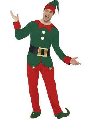 Men's Christmas Elf Costume Front View