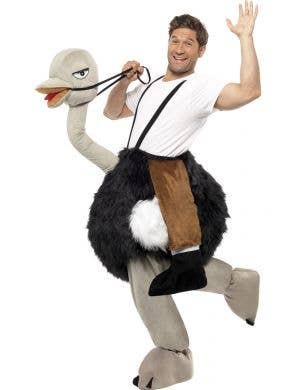 Ride On Ostrich Funny Adult's Dress Up Costume