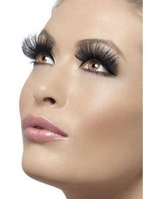 Extra Long Thick Black Costume Eyelashes Main Image