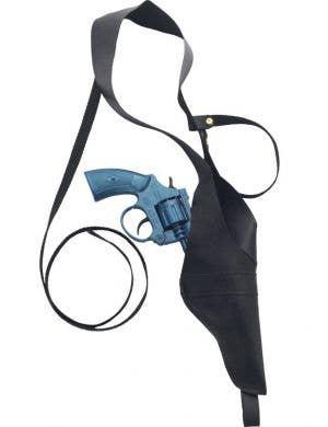 Police Shoulder Holster with Blue Gun