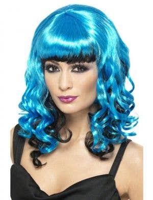 Stricken Angel Blue and Black Costume Wig