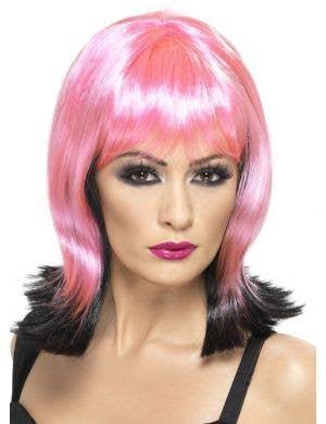 Fallen Pixie Black and Pink Halloween Wig