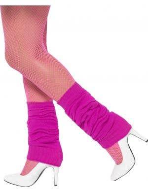 Hot Pink Women's 1980's Costume Leg Warmers