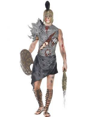 Ancient Roman Gladiator en's Zombie Halloween Costume Front