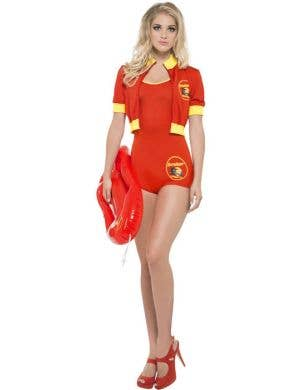 fa58d08db4e Women s Red Baywatch Babe Fancy Dress Costume Front View Baywatch Babe Sexy  Women s Costume