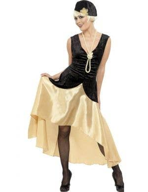 Women's Great Gatsby Fancy Dress Costume Front View