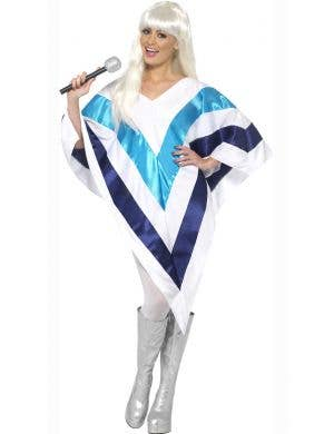 Super Trooper Women's White Poncho Costume Main Image