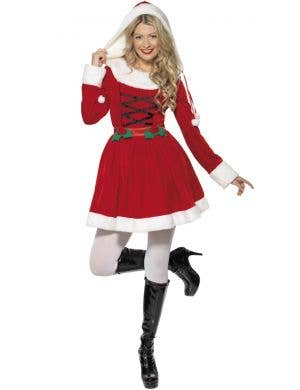 Miss Santa Women's Christmas Fancy Dress Costume