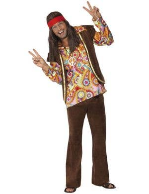 Psychedelic Hippie Men's 1960's Costume