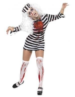 Women's Sexy Zombie Convict Costume Main Image