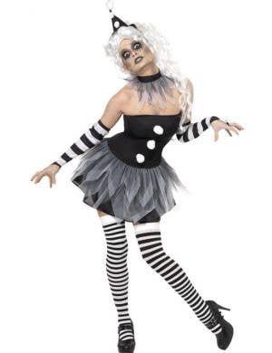 Sinister Pierrot Women's Halloween Costume