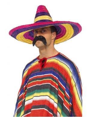 Mexican Multicoloured Sombrero Costume Hat