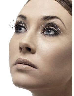 Black Costume Eyelashes With Droplet Tips