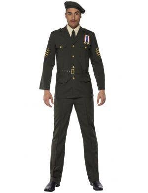 Wartime Officer Men's Military Soldier Costume Image 1