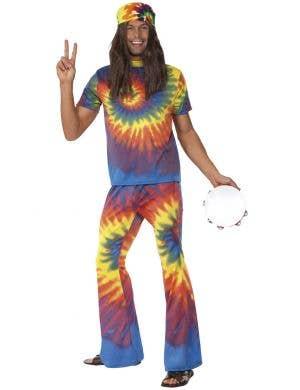 Men's 1970's Groovy Tie-Dye Hippie Costume Image 1