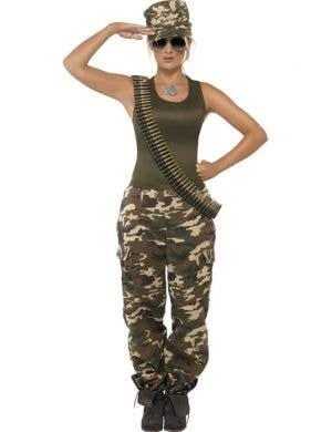Khaki Camo Women's Sexy Army Costume