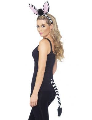 Adults Striped Zebra Ears and Tail Costume Accessory Set Main Image
