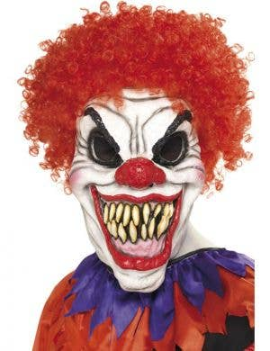 Scary Clown Halloween Mask With Wig
