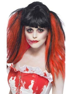 Blood Drip Black and Red Costume Wig