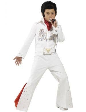 Boy's Elvis Presley Rock Singer Celebrity Fancy Dress Costume Front