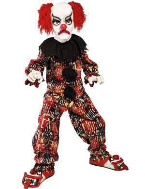 Boy's Creepy Clown Halloween Book Week Costume Front View