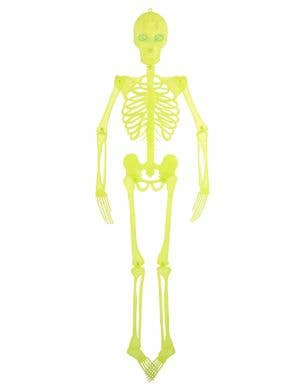 Yellow Skeleton Decoration with Light Up Eyes Front View