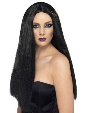 Long Straight Black Costume Wig