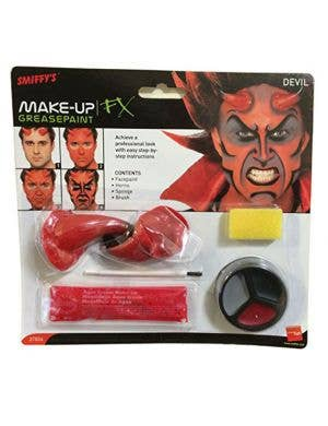 Horror Devil Makeup Kit with Horns