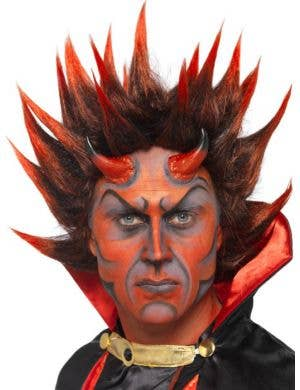 Spiky Red Devil Costume Wig