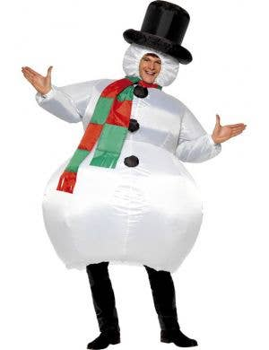 Inflatable Snowman Adult's Christmas Costume