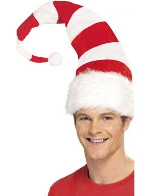 Christmas Striped Adult's Santa Costume Accessory Hat