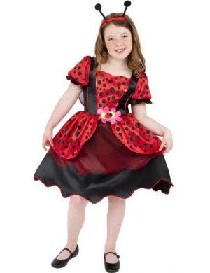 Black and Red Girl's Lady Bug Costume Front View