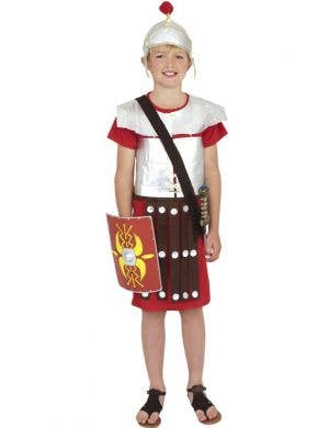 Boy's Roman Soldier Costume Dress Up Front View