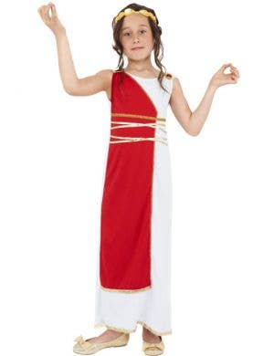 Greek Goddess Girl's International Costume Front View