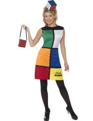 5e1c1e78488 Funny 80 s Women s Rubik s Cube Costume Dress ...