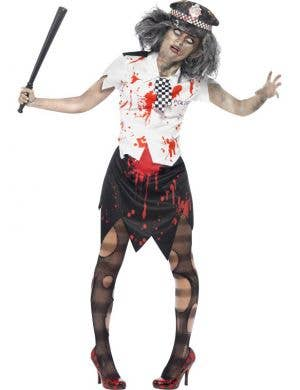 Zombie Police Officer Women's Halloween Costume