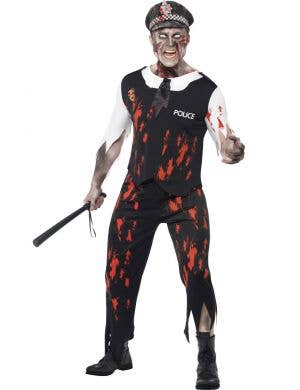 Zombie Police Officer Men's Halloween Costume Front