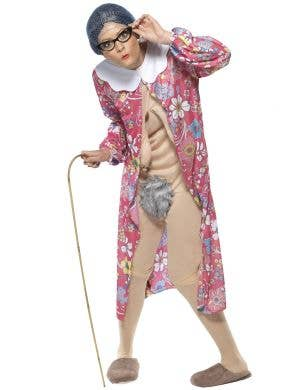 Hilarious Gravity Granny Rude Costume for Adults Main Image