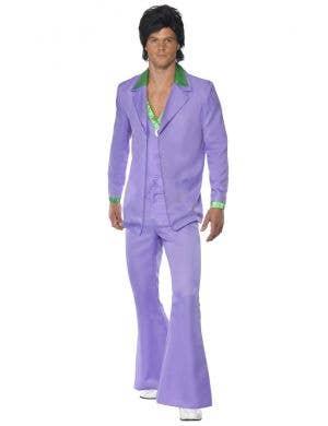 Retro Lavender Purple Men's 1970's Costume Suit Image 1
